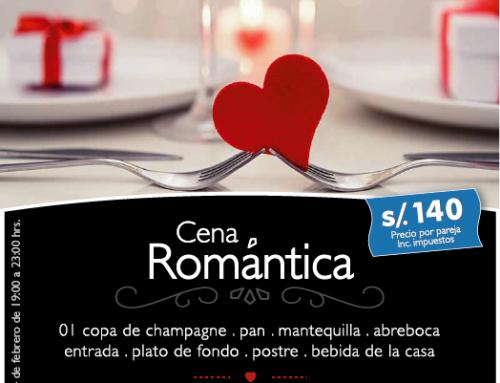 Cena Romantica Dia del Amor 14 Febrero